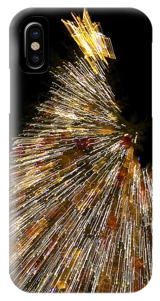 Xmas Tree Motion Art IPhone Case