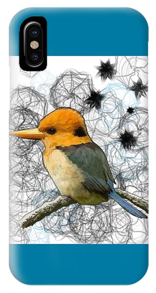 Y Is For Yellow Billed Kingfisher IPhone Case