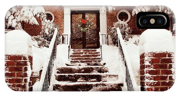 Brownstone iPhone Case - Winter On Your Doorstep by Jessica Jenney