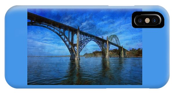 Yaquina Bay Bridge From South Beach IPhone Case