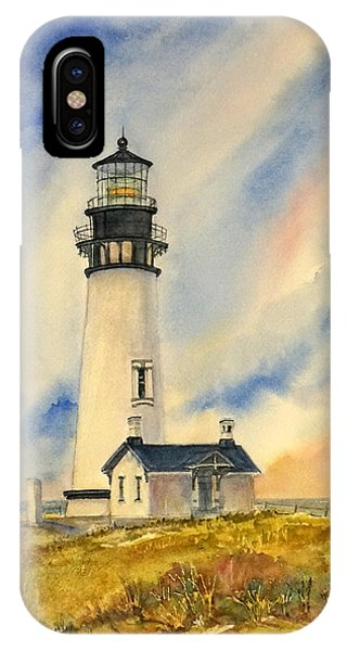 Yaquina Head - Late Afternoon Sunlight IPhone Case