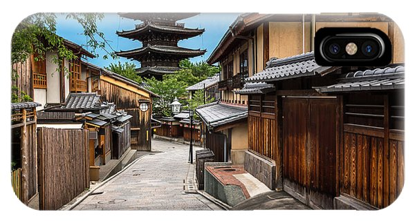 Old Building iPhone Case - Yasaka Pagoda And Sannen Zaka Street In by Ansharphoto