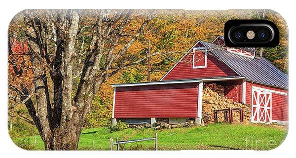 New England Barn iPhone Case - Ye Old Maple Sugar Shack by Edward Fielding