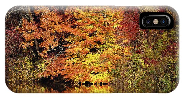 IPhone Case featuring the photograph Yellow Autumn Leaves by Mike Murdock