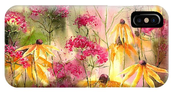 Orchid iPhone X Case - Yellow Ballerinas by Suzann's Art