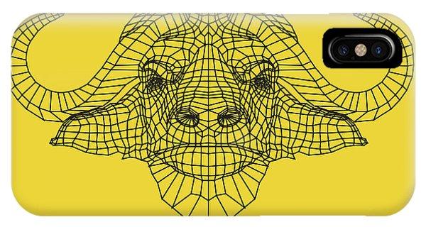 Lynx iPhone Case - Yellow Buffalo by Naxart Studio