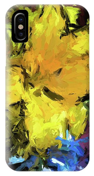 Yellow Flower And The Eggplant Floor IPhone Case