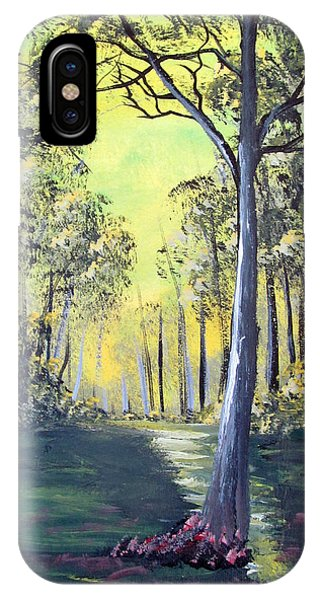 Yellow Forrest IPhone Case