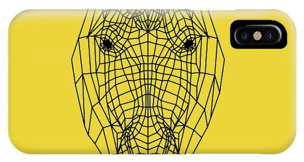 Lynx iPhone Case - Yellow Horse by Naxart Studio