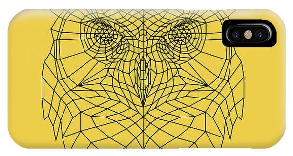 Lynx iPhone Case - Yellow Owl by Naxart Studio