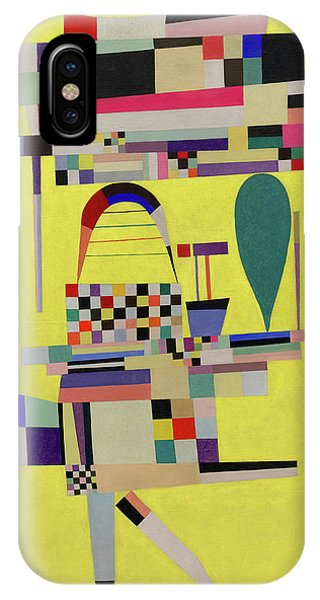 Illusion iPhone Case - Yellow Painting - La Toile Jaune, 1938 by Wassily Kandinsky