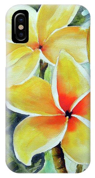 Yellow Plumeria IPhone Case