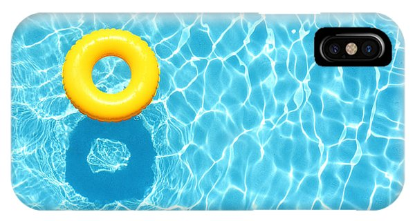 Hotel iPhone Case - Yellow Pool Float, Ring Floating In A by Staciestauffsmith Photos