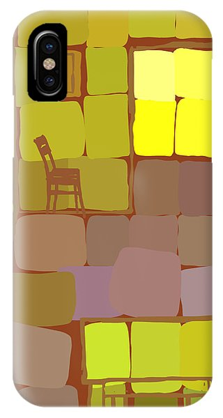 IPhone Case featuring the digital art Yellow Room by Attila Meszlenyi