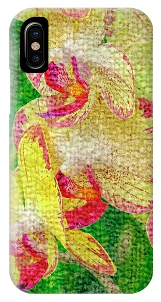 Yellow/rouge Orchids IPhone Case