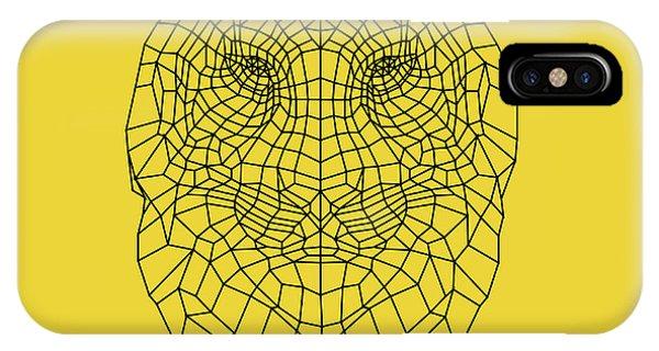 Lynx iPhone Case - Yellow Tiger by Naxart Studio