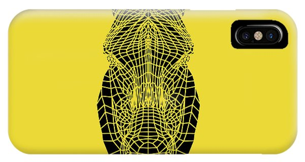 Lynx iPhone Case - Yellow Zebra by Naxart Studio