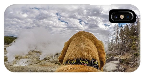 IPhone Case featuring the photograph Yellowstone By Photo Dog Jackson by Matthew Irvin