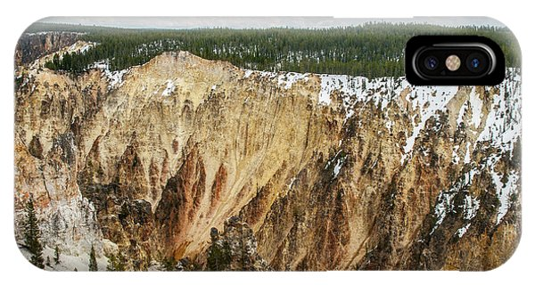 IPhone Case featuring the photograph Yellowstone Canyon With Frosting by Matthew Irvin