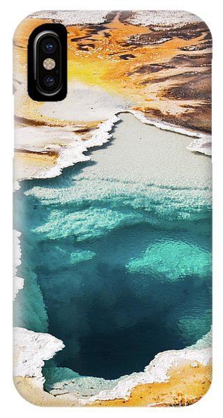 Yellowstone National Park iPhone Case - Yellowstone Hot Spring Vertical by Delphimages Photo Creations