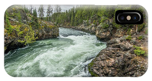 IPhone Case featuring the photograph Yellowstone River Falling by Matthew Irvin