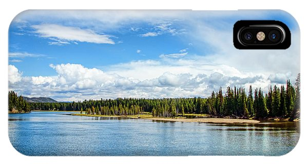 IPhone Case featuring the photograph Yellowstone River by Mike Braun