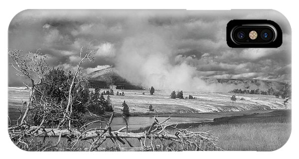 IPhone Case featuring the photograph Yellowstone Steam by Matthew Irvin