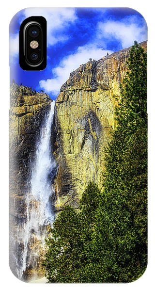 Treeline iPhone Case - Yosemite Valley Fall In The Clouds by Garry Gay