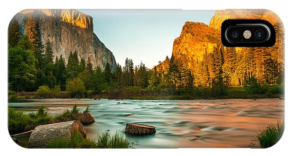 Long Exposure iPhone Case - Yosemite Valley View Sunset by Mohamed Selim