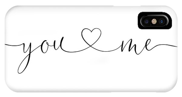 You And Me Black And White IPhone Case
