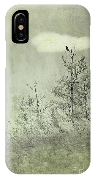 Gloomy iPhone Case - You Are Not Here by Priska Wettstein