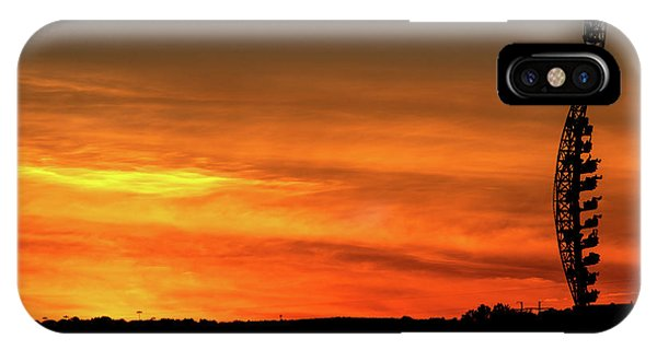 Vertical Roller Coaster At Sunset IPhone Case