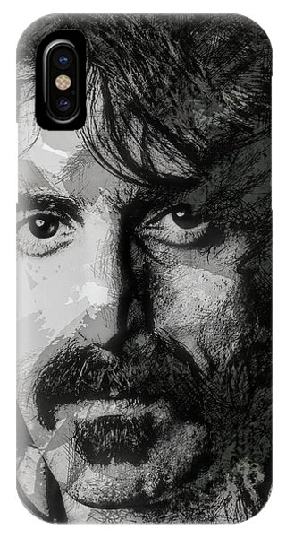 Frank Zappa iPhone Case - Z A P P A by Daniel Hagerman