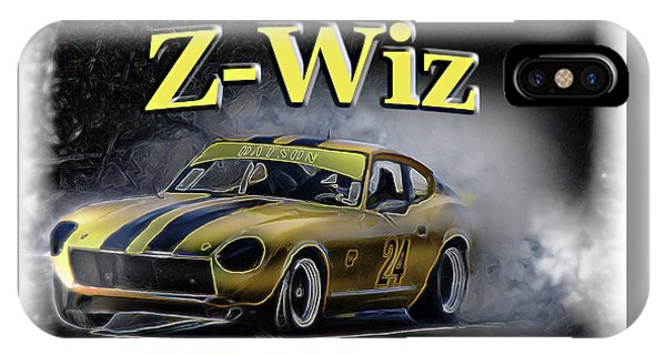 Nissan iPhone Case - Z-wiz by Tom Griffithe