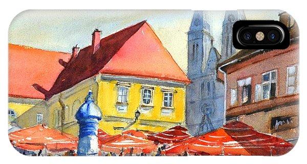 Zagreb Near Dolce Market IPhone Case