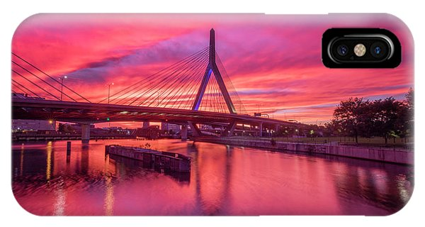 Zakim Bridge Sunset IPhone Case