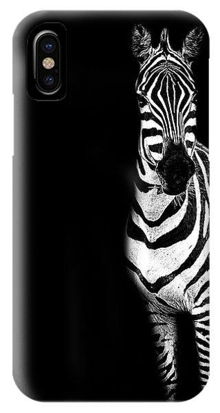 Zebra Drama IPhone Case