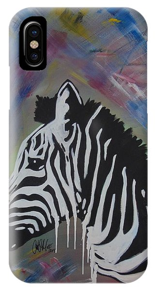 Zebra Drip IPhone Case