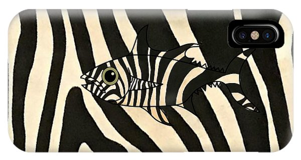 iPhone Case - Zebra Fish 3 by Joan Stratton