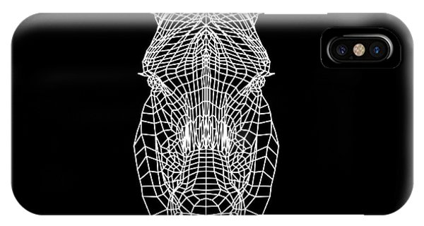 Lynx iPhone Case - Zebra Mesh by Naxart Studio
