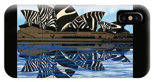 Zebra Opera House 4 IPhone Case