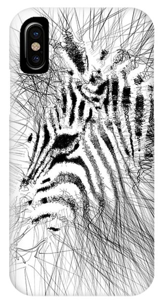 IPhone Case featuring the digital art Zebrart by ISAW Company
