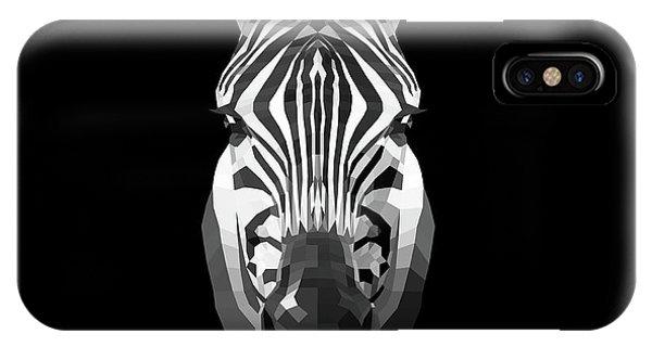 Lynx iPhone Case - Zebra's Face by Naxart Studio