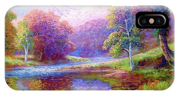 Red-violet iPhone Case - Zen Garden Meditation by Jane Small