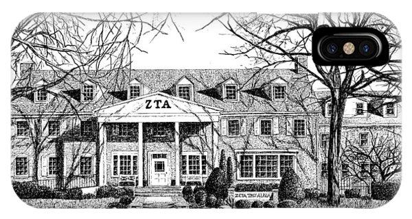 Purdue Boilermakers iPhone Case - Zeta Tau Alpha Sorority House, Purdue University, West Lafayette, Indiana, Fine Art Print by Stephanie Huber