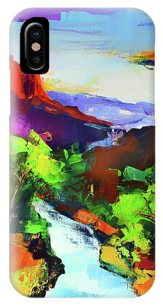 Rocky Mountain Np iPhone Case - Zion - The Watchman And The Virgin River by Elise Palmigiani