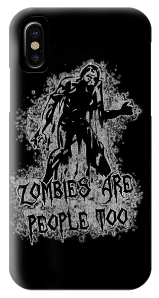 Zombies Are People Too Halloween Vintage IPhone Case