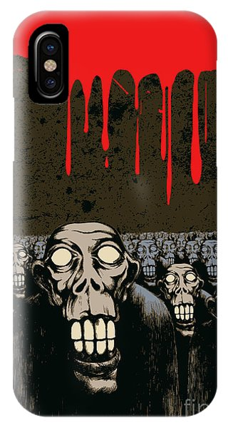 Cemetery iPhone Case - Zombies, Current Blood And Grunge by Jumpingsack