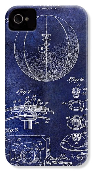 1927 Basketball Patent Drawing Blue IPhone 4 Case