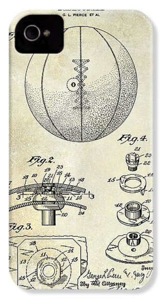 1927 Basketball Patent Drawing IPhone 4 Case